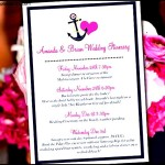 Beautiful Beach Wedding Itinerary Template