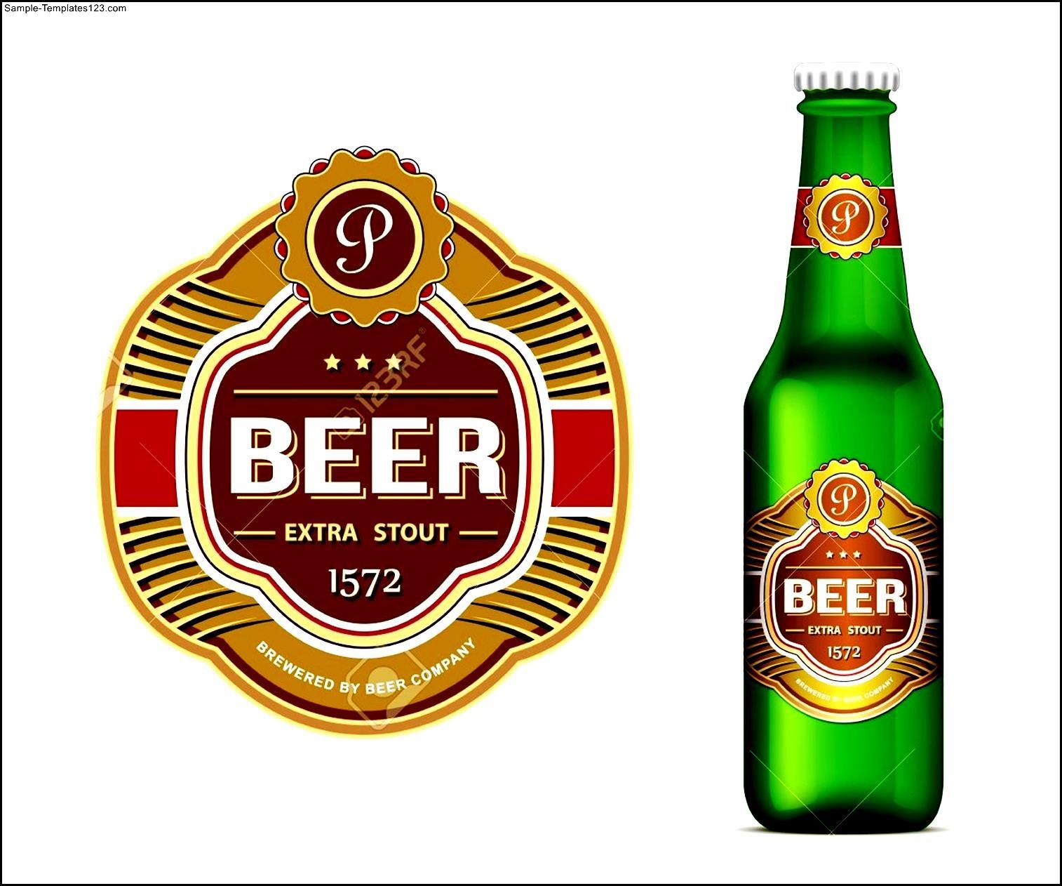Beer Bottle Label Template Word - Sample Templates - Sample