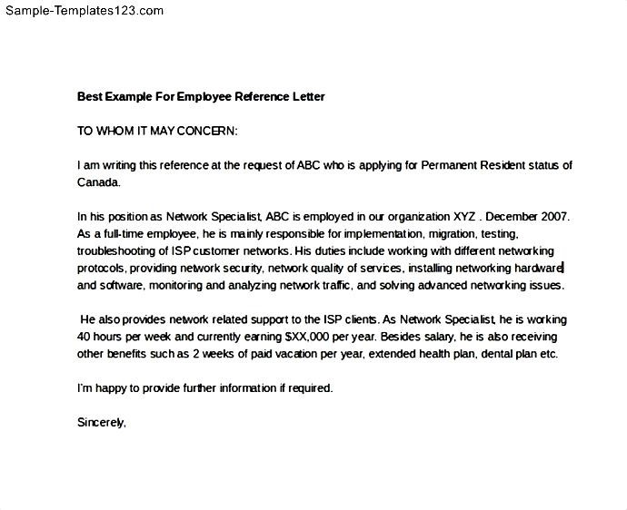 Best example for employee reference letter sample templates best example for employee reference letter sample templates sample templates spiritdancerdesigns Choice Image