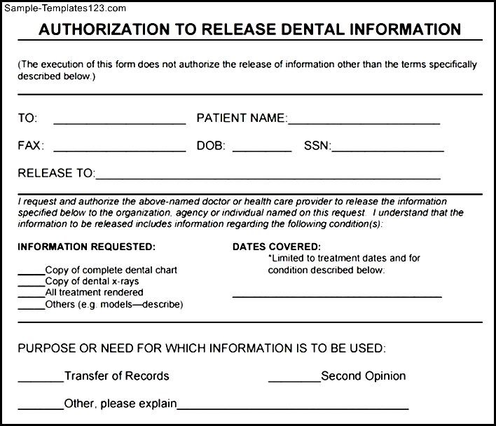Best Example For Generic Medical Records Release Form  Sample