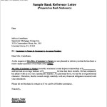 Best Format For Bank Reference Letter