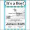 Birth Announcement Boy Template