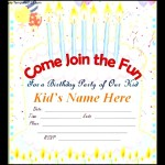 Birthday For Kids Free Online Invitation