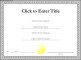 Blank Certificate Example Template