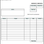 Blank Service Invoice Template PDF