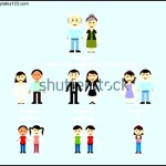 Blue Background Family Tree Template For Kids
