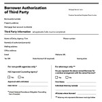 Borrower Third Party Authorization