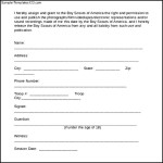 Boy Scouts Talent Release Form