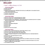 Brilliant Wedding Event Planner Itinerary Template Free Download