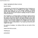 Business Apology Letter for Bad Service