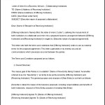 Business Letter of Intent Sample Format Word Doc