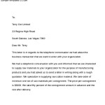 Business Sample Cover Letter