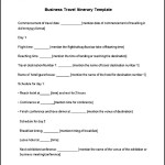 Business Travel Itinerary Template Free Download
