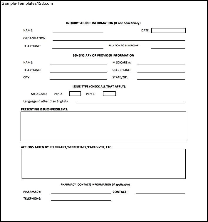 CMS Medicare Complaint Form - Sample Templates