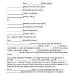Car Sale Agreement Letter