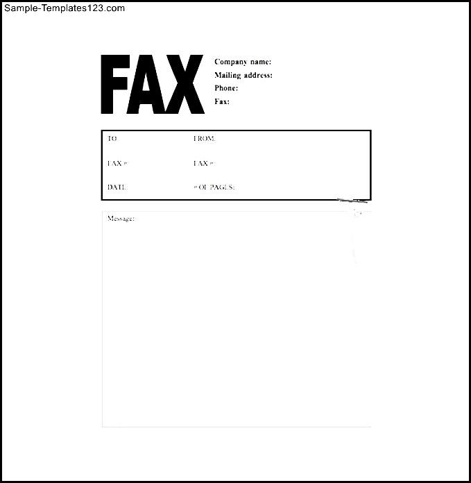 Make a cover letter for fax
