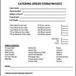 Catering Invoice Template PDF