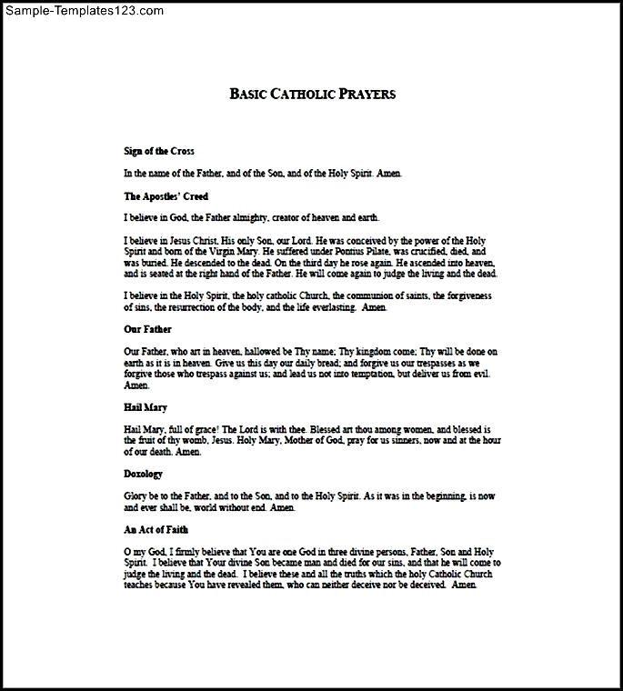 Phenomenal Catholic Church Prayer List Template Free Sample Templates Download Free Architecture Designs Scobabritishbridgeorg