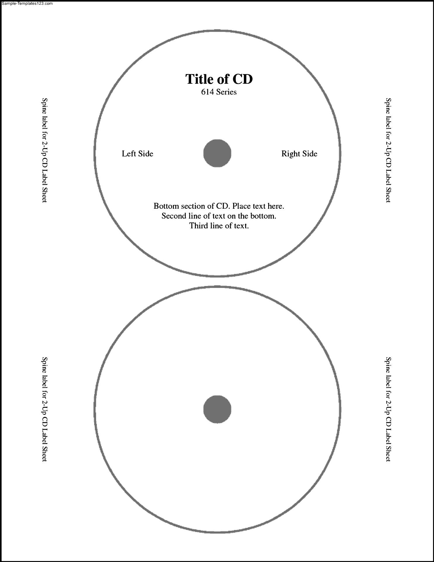 labels for cds templates