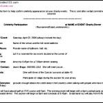 Celebrities In Charities Event Sample Doc Format Template