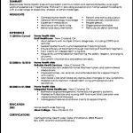 Certified Home Health Aide Resumes