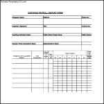 Certified Payroll Form To Dowload