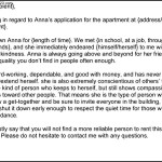 Character Reference Letter Template for Apartment