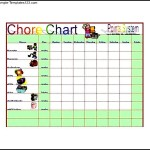 Chore List Template Excel Free