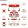 Christmas Badge Label Template