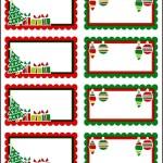 Christmas Labels Printable Templates