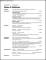 Chronological Resume Sample