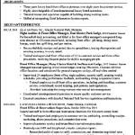 Chronological Resume Sample Resort Front Office Manager