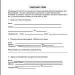 Civil Complaint Form Example