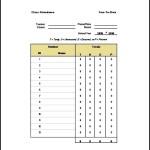 Class Attendance List Template Excel