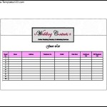 Clooney Wedding Guest List Template