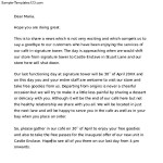 Closing Business Letter to Employees