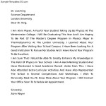 College Letter of Intent Template