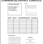 Commercial Invoice Template Fee Download