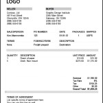 Commercial Invoice Template Free