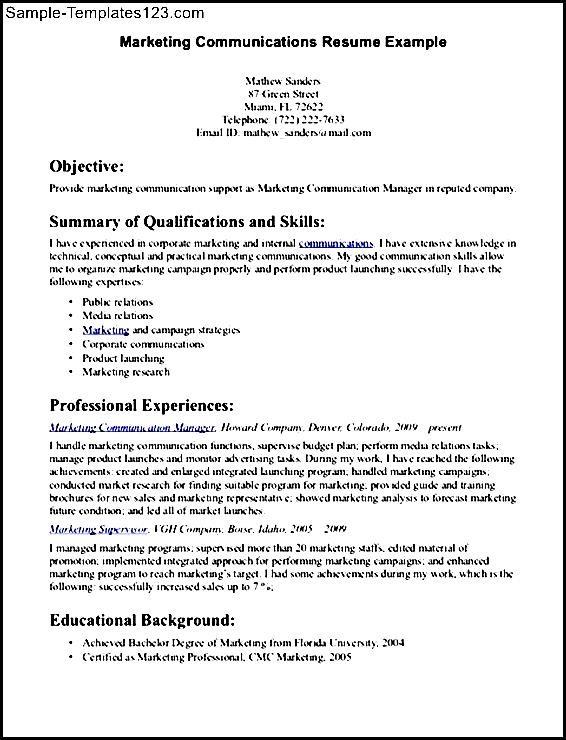 communication skills for resume sample sample templates