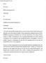 Complaint Letter Format