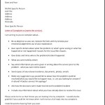 Complaint Letter Template Word