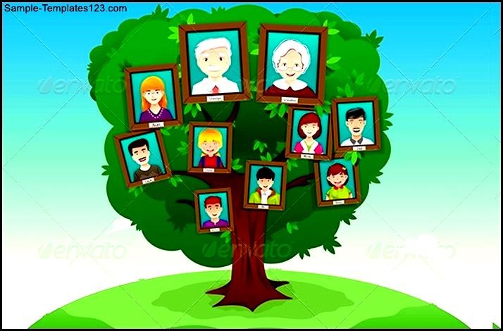 Concept Of Family Tree Template For Kids  Sample Templates  Sample