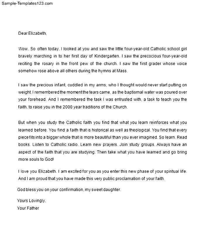How to write a catholic confirmation letter sample gallery letter confirmation letter to my daughter sample templates sample templates confirmation letter to my daughter expocarfo thecheapjerseys Gallery