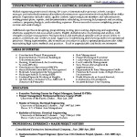 Construction Manager Resume Project