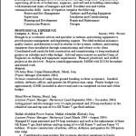 Construction Project Manager Resume Format