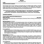Construction Resume Sample PDF