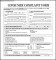 Consumer Complaint Form Example