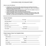 Consumer Complaint Form PDF