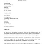Contract Termination Letter to Customer Word Format
